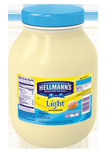 Hellmann's® Light Mayonnaise has half the fat, with all the flavor.