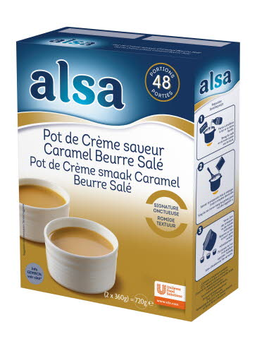 Alsa Pot de Crème Caramel & Beurre Salé 2 x 360 g