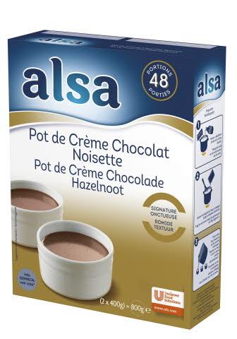 Alsa Pot de Crème Chocolat & Noisette 2 x 400 g