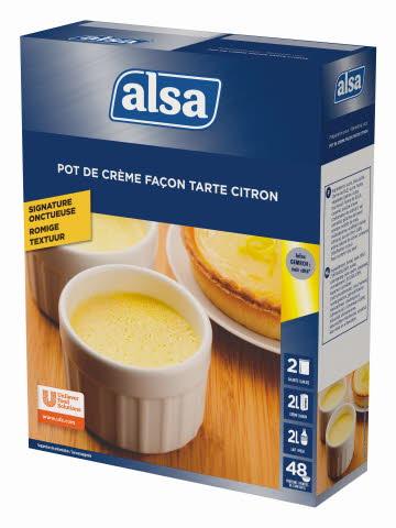 Alsa Pot de Crème Façon Tarte Citron 2 x 400 g