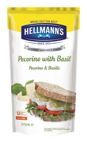Hellmann's Sauce Sandwich Pecorino & Basilic 570 ml