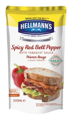 Hellmann's Sauces sandwich Poivron rouge et Tabasco 570 ml