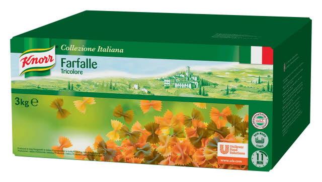 Knorr Collezione Italiana Pâtes Farfalle Tricolore 3 kg
