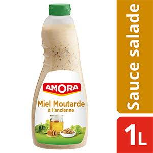 Amora Sauce Salade Miel Moutarde à l'ancienne 1 l