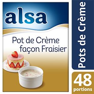 Alsa Pot de Crème façon Fraisier 48 portions