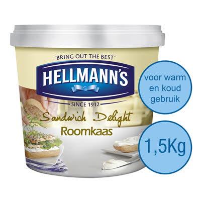 Hellmann's Sandwich Delight Roomkaas Natuur 1,5 kg