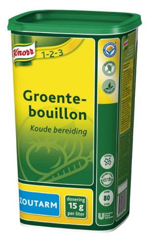Knorr 1-2-3 Groentebouillon Poeder zoutarm 1,2 kg