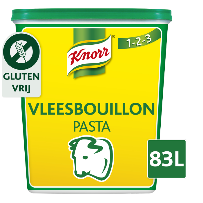 Knorr 1-2-3 Vleesbouillon Pasta 1,5 kg - Ontdek Knorr 1-2-3 Vleesbouillon in pasta, voor een krachtige smaak
