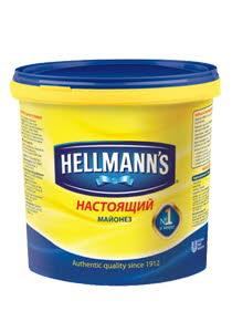 "HELLMANN'S ""Настоящий"" майонез 78% жирности (1кг/2,4кг/5кг)"