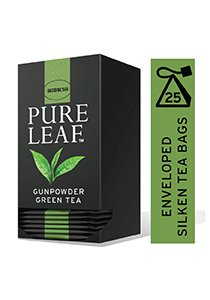 بيور ليف شاي أخضر خرز ورق كامل ٢٥ باكيت شاي هرمي × ٦ -