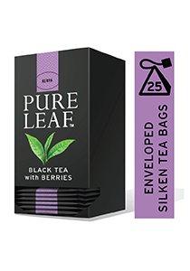 بيور ليف شاي أسود بالتوت ورق كامل ٢٥ باكيت شاي هرمي × ٦ -