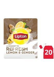 ليبتون أعشاب الليمون والزنجبيل ۲۰x۱٦ باكيت شاي -