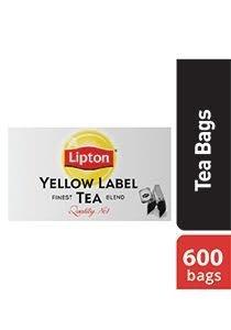 ليبتون العلامة الصفراء شاي أسود ٦٠٠ باكيت شاي