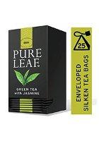 بيور ليف شاي أخضر بالياسمين ورق كامل ٢٥ باكيت شاي هرمي × ٦