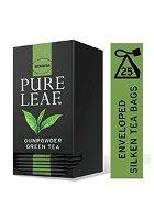 شاي أخضر خرز ورق كامل ٢٥ باكيت شاي هرمي × ٦