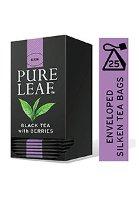 شاي أسود بالتوت ورق كامل ٢٥ باكيت شاي هرمي × ٦
