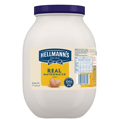 المايونيز الحقيقي هيلمنز ٤ × ٣٫٨٧ لتر - يبرز المايونيز الحقيقي هيلمنز أروع ما في طبقك من نكهات.
