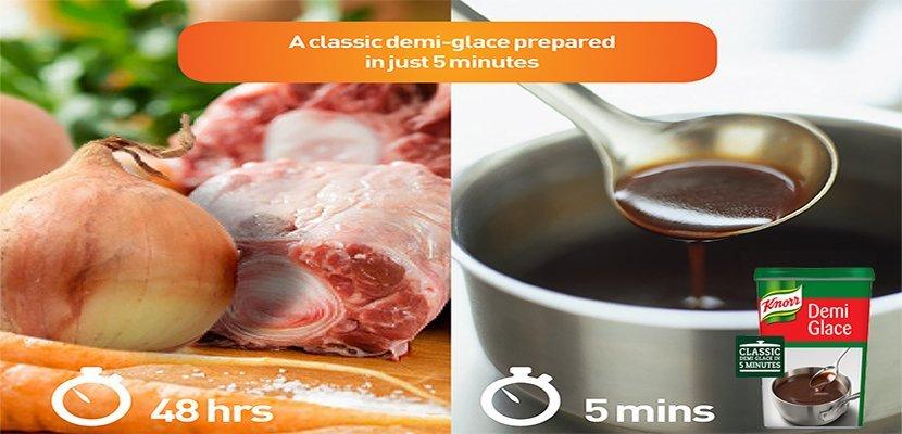كنور صوص ديمي غلاس (6x750 غرام) - لإعداد صوص الديمي جلاس في 5 دقائق.