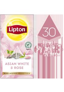 ليبتون شاي أبيض آسيوي مع الورد (٦×٣٠ باكيت شاي هرمي) - تقدّم التشكيلة المختارة من ليبتون لحظات فريدة لضيوفك عند احتساء الشاي