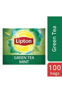 ليبتون شاي أخضر بالنعناع ١٢×١٠٠ ظرف - الشاي الأخضر من العلامة التجارية رقم 1 في العالم، ليبتون، يساعد على الهضم ويزيد من التركيز