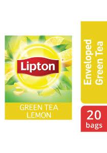 ليبتون شاي أخضر ليمون ١٦ × ٢٠ × ١٫٥ جم - الشاي الأخضر من العلامة التجارية رقم 1 في العالم، ليبتون، يساعد على الهضم ويزيد من التركيز