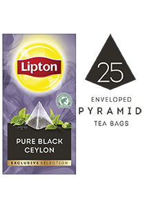 ليبتون شاي أسود سيلاني (٦×٢٥ باكيت شاي هرمي) - تقدّم التشكيلة المختارة من ليبتون لحظات فريدة لضيوفك عند احتساء الشاي