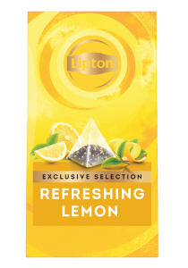 ليبتون ليمون منعش (٦×٢٥ باكيت شاي هرمي) - تقدّم التشكيلة المختارة من ليبتون لحظات فريدة لضيوفك عند احتساء الشاي.
