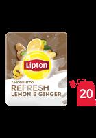 ليبتون أعشاب الليمون والزنجبيل ۲۰x۱٦ باكيت شاي