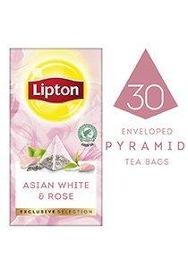 ليبتون شاي آسيوي أبيض بالورد ٦×٣٠×١.٦جم -