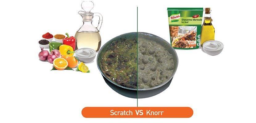 كنور تتبيلة شاورما لحمة ٦×٧٥٠جم - لتتبيل والحفاظ على نكهة وطعم اللحمة