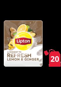 ليبتون أعشاب الليمون والزنجبيل ۲۰x۱٦ باكيت شاي - ليبتون شاي الأعشاب مصمم لتحسين مزاج كل موظف