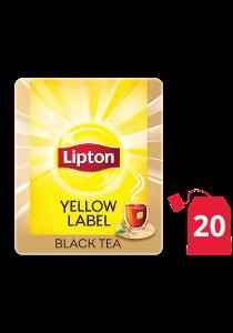 ليبتون العلامة الصفراء شاي أسود ١٦ × ٢٠ باكيت شاي - ليبتون يعرف الحل