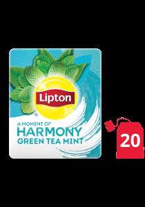 ليبتون شاي أخضر بالنعناع ١٦×٢٠ ظرف - الشاي الأخضر من العلامة التجارية رقم 1 في العالم، ليبتون، يساعد على الهضم ويزيد من التركيز
