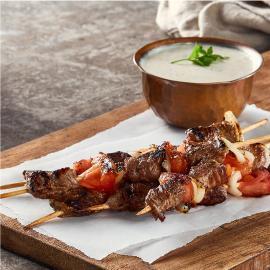 اسياخ شاورما اللحم الصغيرة