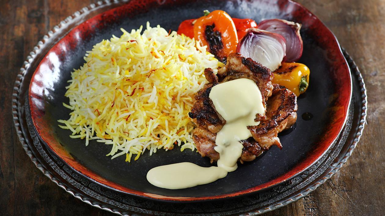 الفراخ المشوية مع الرز بالزعفران – وصفة