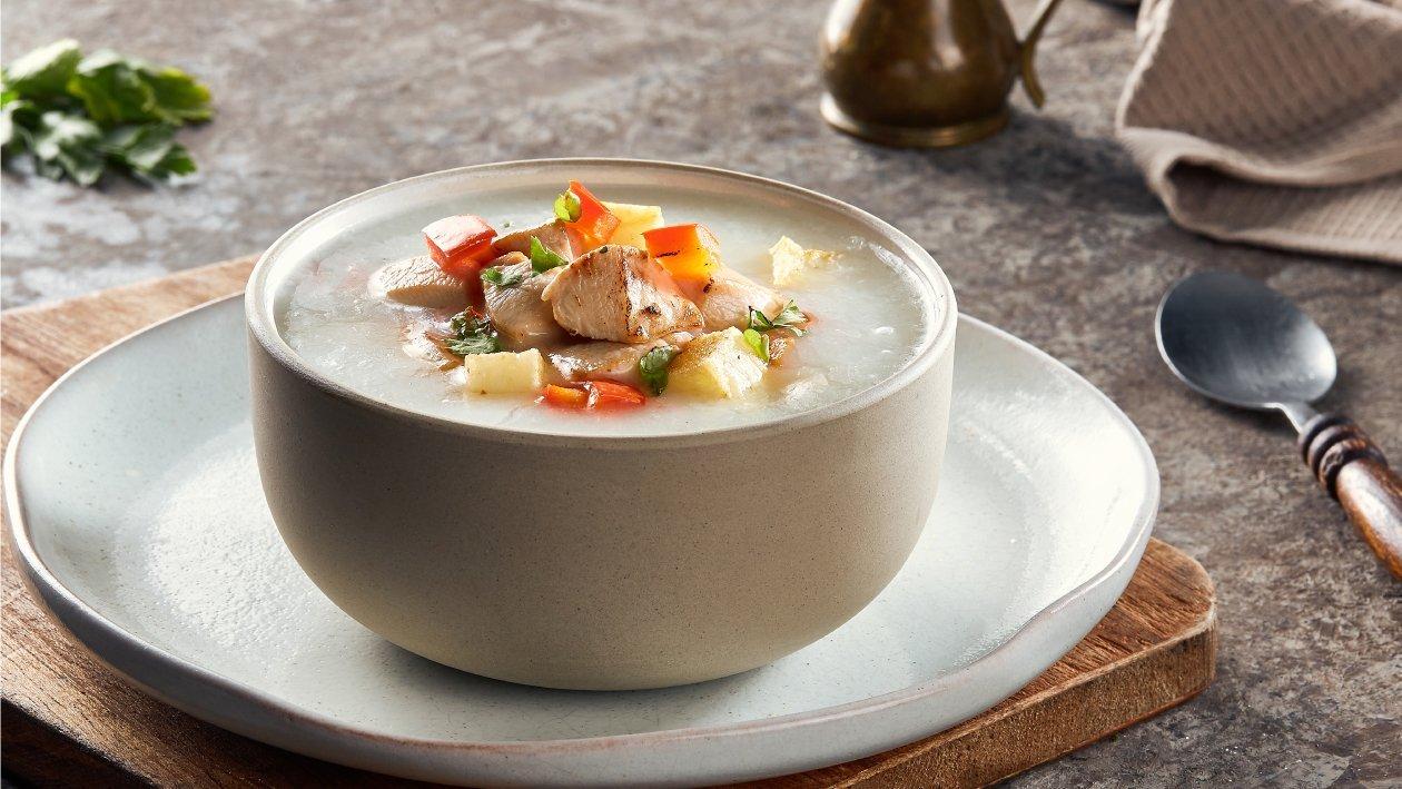 شوربة كريمة الدجاج والبطاطس – وصفة