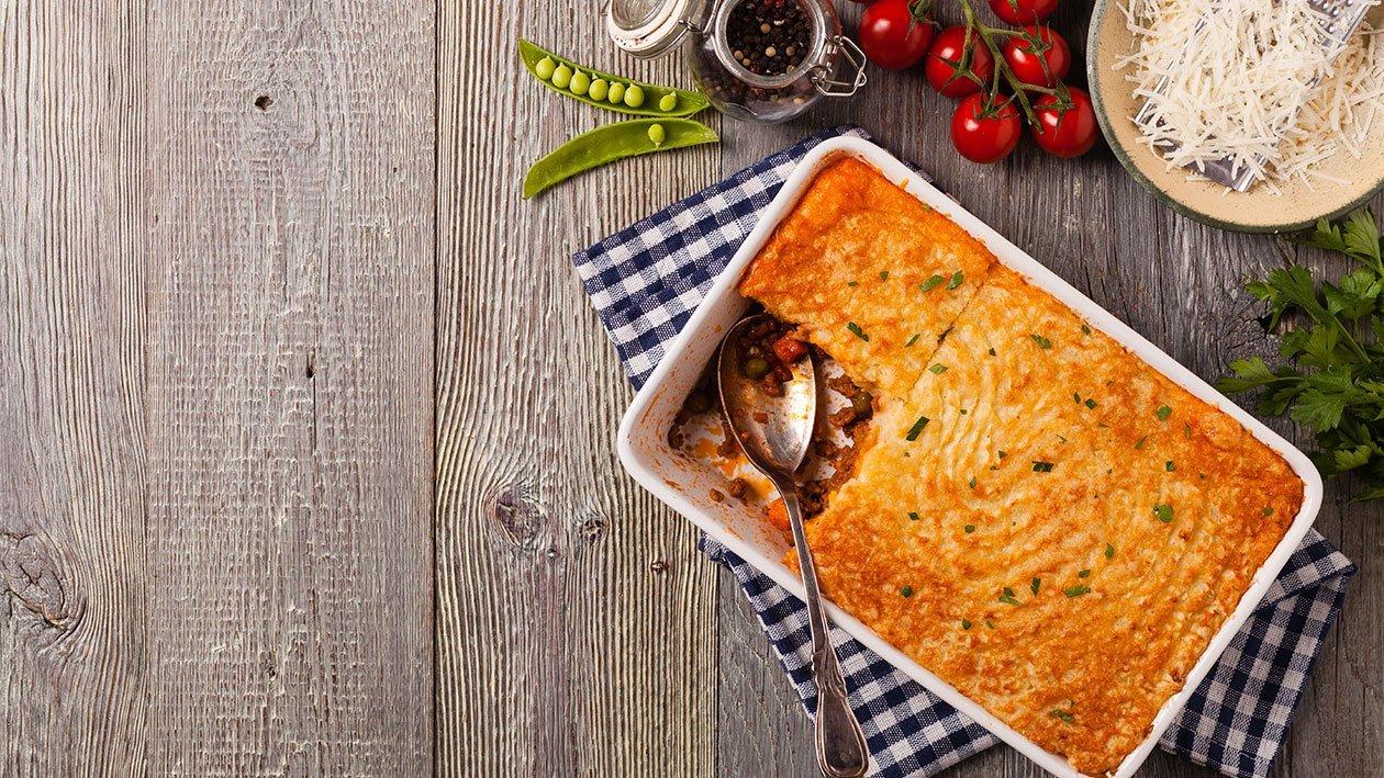 صينية البطاطس مهروسة مع الخضروات – وصفة