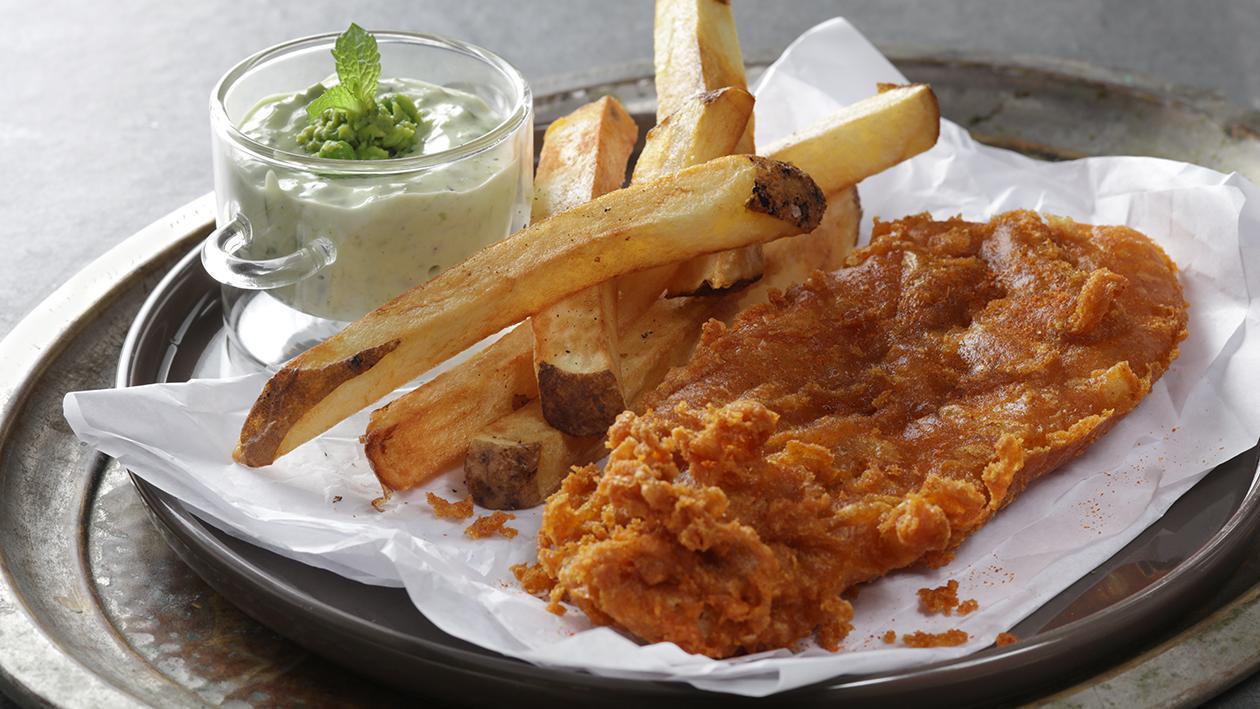 طبق السمك والبطاطس بالماسالا – وصفة