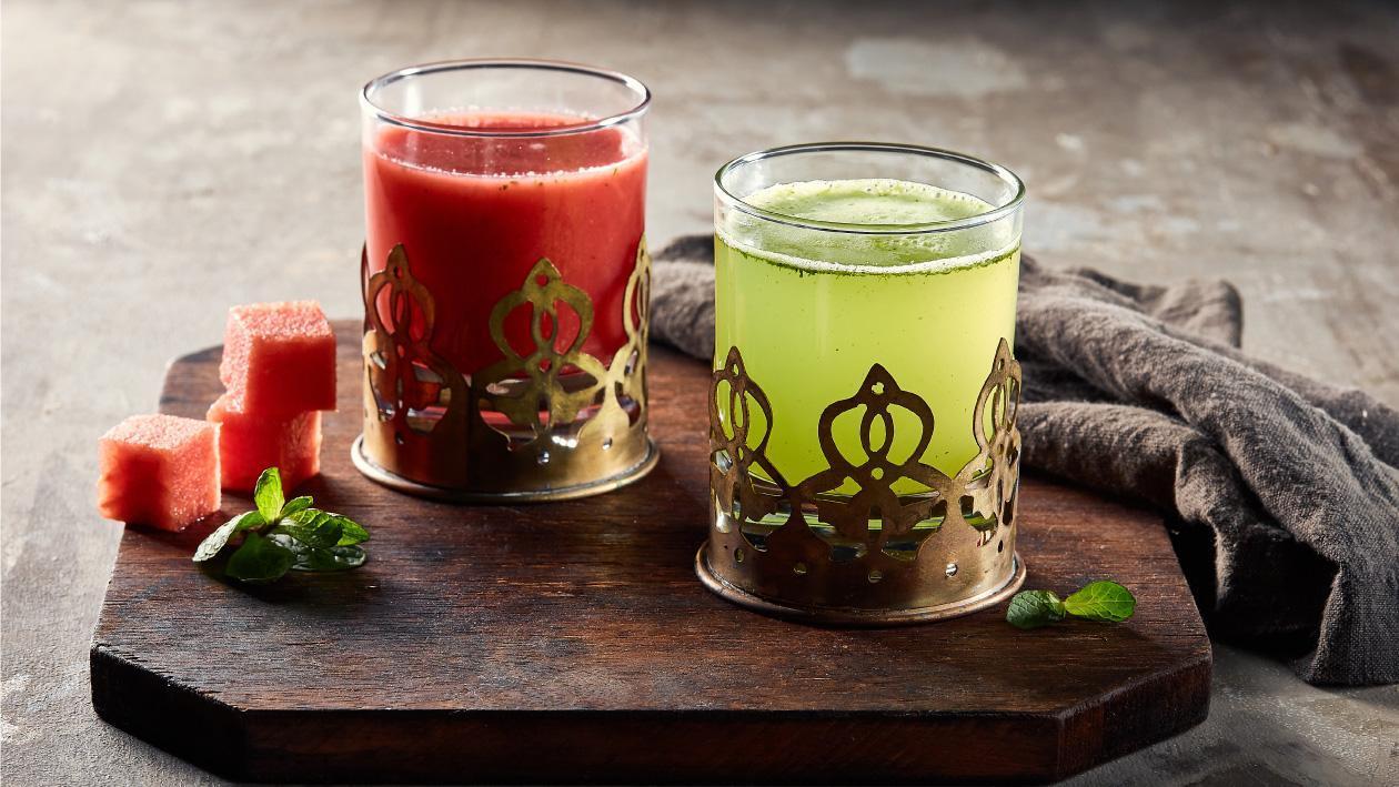 عصير ليمون بالنعناع ومياه الورد – وصفة