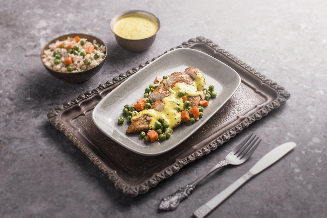 فراخ بالكزبرة والكاري مع الخضروات – وصفة