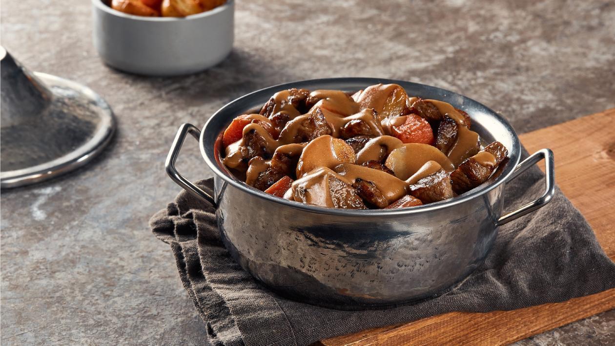 كسرولة لحم الصدر البقري بالخضروات – وصفة