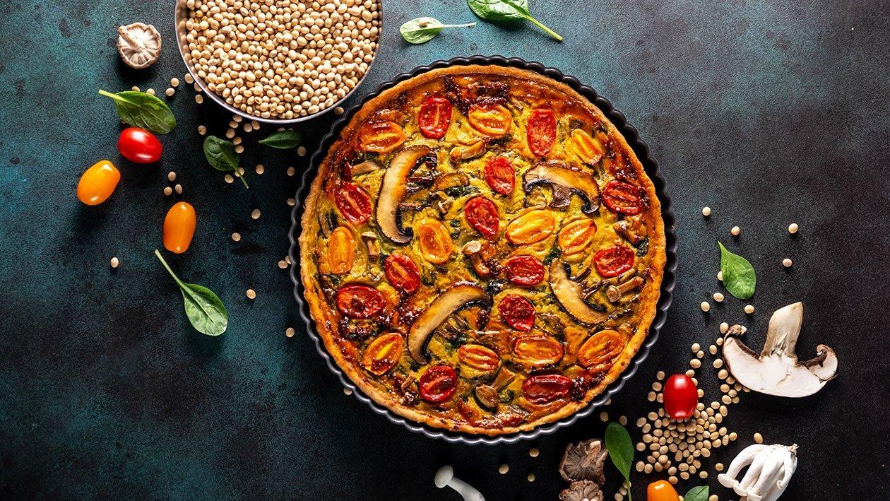 كيش التوفو والطماطم والكركم – وصفة