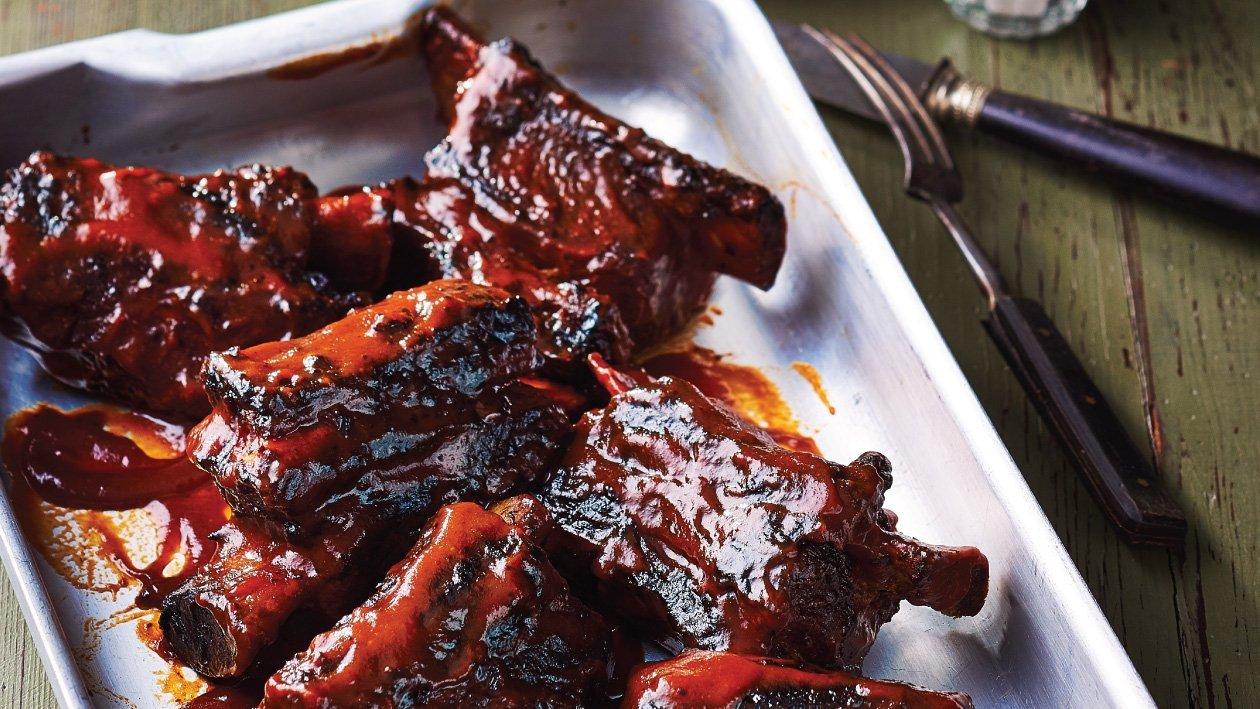 باربيكيو ضلوع اللحم البقري الأمريكية المدخنة – وصفة