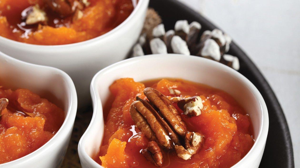 بطاطا حلوة مع صوص التوفي والبقان – وصفة