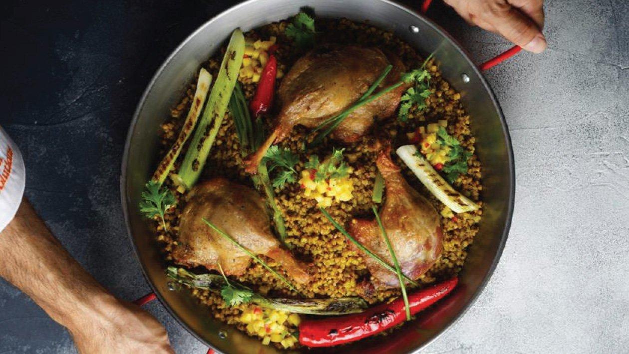 بط مقرمش مع الحنطة – وصفة