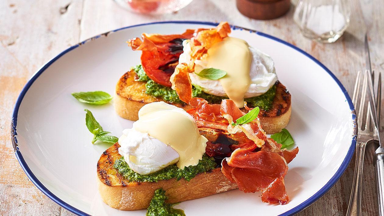 بيض بنديكت على الطريقة الإيطالية – وصفة