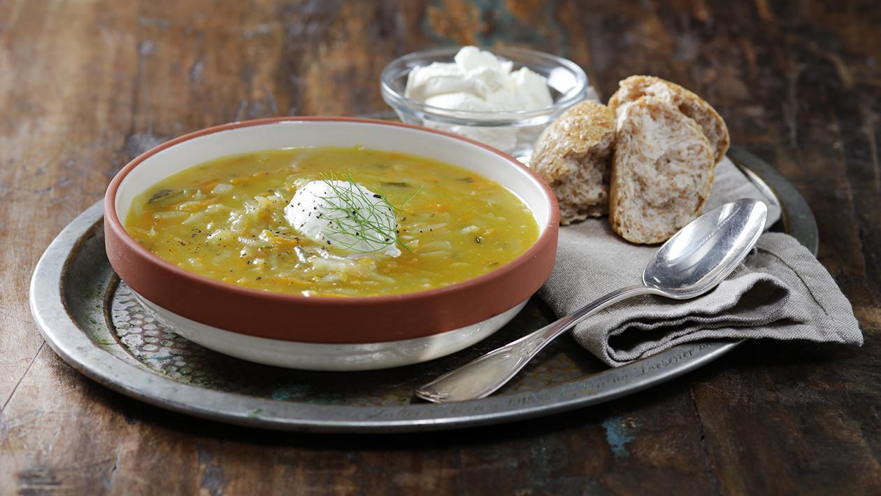 حساء الدجاج مع المخلل – وصفة