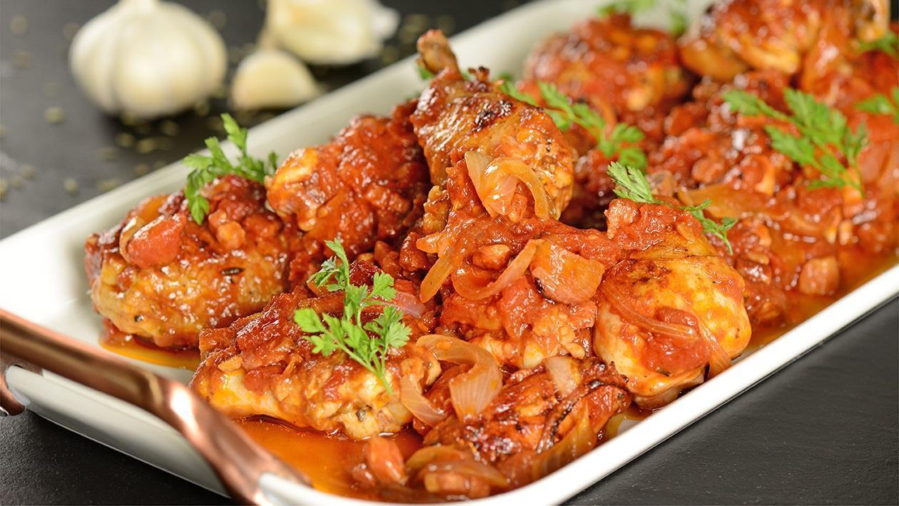 دجاج توسكانا المحمر مع الطماطم – وصفة