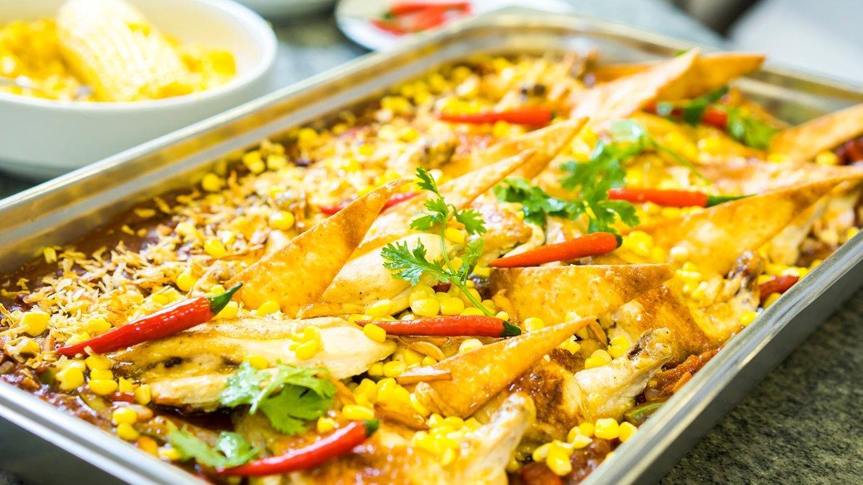 دجاج حار بدون عظام بالذرة والفلفل الأحمر – وصفة