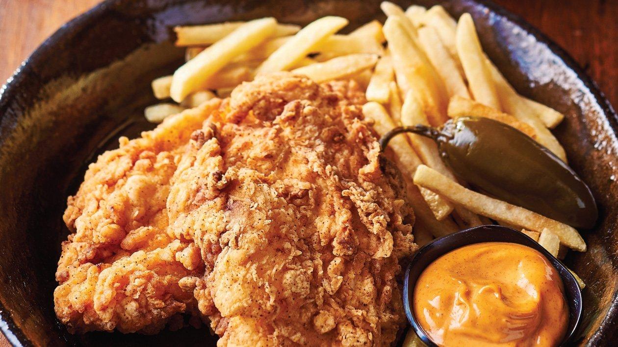 شنيتزل الدجاج المقلي على الطريقة الجنوبية – وصفة